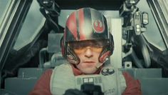 Oscar Isaac appears in the cockpit of a new X-wing Starfighter. Star Wars: The Force Awakens. Episode VII. Episode 7.
