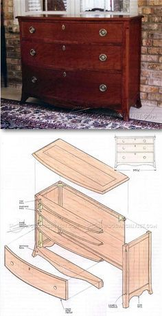 Fall Front Bureau Build- Furniture Plans and Projects ...