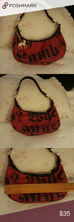 L.A.M.B. red and black hobo purse Gwen Stefani Cute red and black LAMB by Gwen Stefani for LeSportSac hobo purse / bag. This is a gently used purse. It is not new. *** I take offers..please don't be shy 😊😊😊 measurements included in photos, please view them all. L.A.M.B. Bags Hobos