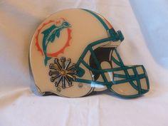 Vintage Miami Dolphins Football Decorative Helmet Wall Clock 1970s 80s Mancave | eBay