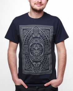 Obey Men s Old World Order Basic Heather T-Shirt dc2e4c5f7f1