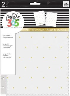 me & my BIG ideas Snap-In Cover - The Happy Planner Scrapbooking Supplies - White with Gold Dots - 1 Set of Front & Back Coordinating Hard Covers - Stylish & Durable Protection - Classic Size Happy Planner Cover, Mini Happy Planner, Planner Covers, 2017 Planner, Planner Pages, Planner Ideas, Planner Stickers, Happy Planner Accessories, Washi Tape Storage