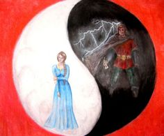Saidin vs Saidar by spiritofthewillow. Saidar with Nynaeve, and saidin with Rand, symbolizing the dual forces of the One Power.