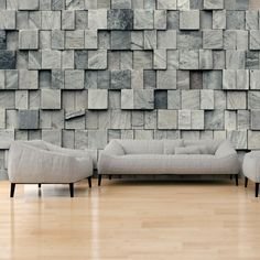 Fotobehang - Magic of the Stone - 250x175 / grijs