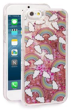 Skinnydip 'Rainbows' Glitter Liquid iPhone 6 & 6s Case