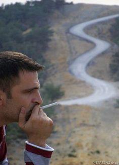 Cigarette + stream.