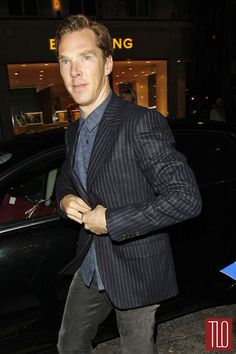 Benedict Cumberbatch attends the Bally's flagship store opening party in London.