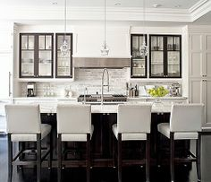 like the contrast trim color on the cabinets -- almost like an exterior window.