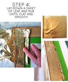 Little Green Notebook: DIY Gold Leaf Art Frame
