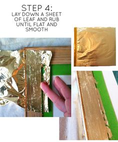 how to gold leaf a frame