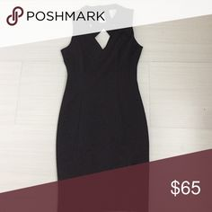 Guess - Black cocktail dress Black cocktail dress. V neck cutout on front and back. Dress was only worn once. Perfect for a wedding or an event! Guess Dresses