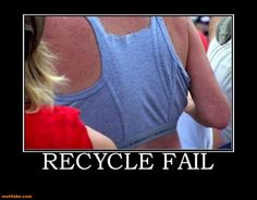 oh no you didnt!!!....who needs to buy a sports bra when you can recycle your underwear...ha