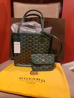 Reversible Goyard Mini Anjou Tote on Mercari Goyard Tote Bag, Reversible Tote Bag, Day Bag, Small Leather Goods, Luxury Bags, Mini Bag, Fashion Bags, Bag Accessories, Purses And Bags