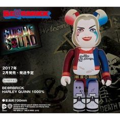 Harley Quinn 1000% BearBrick Suicide Squad