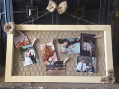 Cream & tan jewelry hanger or photo display by RawhideandRust