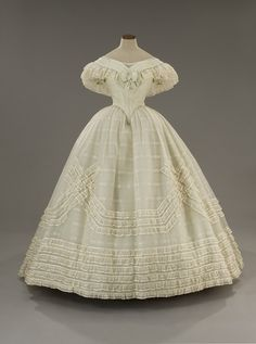 ~Evening Gown,   c.1860s reproduction. Movie costume for Il Gattoparde