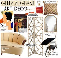 """Glitz & Glam: Art Deco"" by kusja on Polyvore"