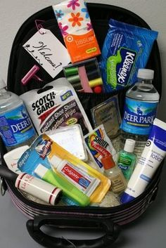 Restroom hospitality basket ideas for events, http://www.ceresville.com