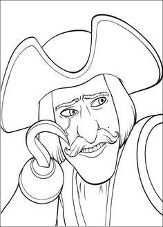 Shrek Tegninger til Farvelægning. Printbare Farvelægning for børn. Tegninger til udskriv og farve nº 27