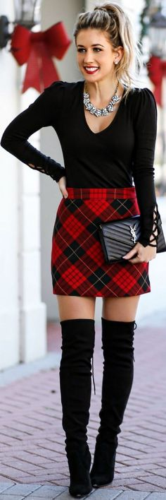 winter outfits party The holiday outfits to copy d - winteroutfits Mode Outfits, Skirt Outfits, Fashion Outfits, Womens Fashion, Fashion Trends, Skirt Fashion, Fashion Heels, Party Fashion, Fashion 2016