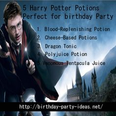 Having a Harry Potter themed birthday party - Birthday Party Ideas