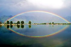 #NaginLake #Kashmir at the foothills of the mountain #Zabarwan lending some charming reflections in the waters!