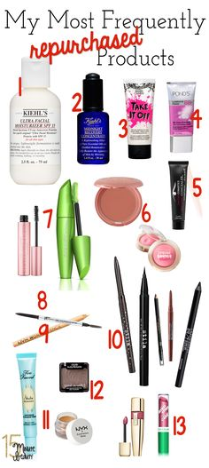 Amazing every day products!  Which products do beauty bloggers actually use, buying over and over?