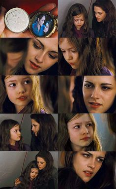 Bella & Renesmee. I loved this mother and daughter moment. I thought Kristen was perfect in the role of Bella and a mom in this movie