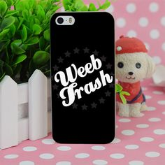 B4319 Weeb Trash Transparent Hard Thin Case Cover For Apple iPhone 4 4S 5 5S SE 5C 6 6S 6Plus 6s Plus