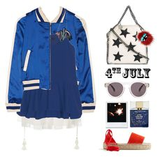 """4th of July"" by yellowgrapes ❤ liked on Polyvore featuring Chloé, Maje, Illesteva, STELLA McCARTNEY, J.Crew, Kate Spade, Fendi, redwhiteandblue and july4th"