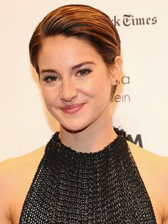 Shailene Woodley's Styled Pixie. Apply some gel to the palm of your hands, then run your fingers through your strands. Don't go too crazy with the gel—you want your hair to look styled, not soaked!