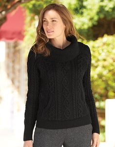 A genuine Aran sweater by Carraig Donn from Orvis