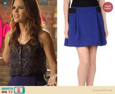 blue pleated skirt by #ProenzaSchouler