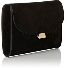 Mansur Gavriel Flat Clutch ($695) ❤ liked on Polyvore featuring bags, handbags, clutches, mansur gavriel handbags, suede purse, mansur gavriel, flat purse and suede handbags