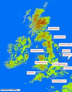Sea level map if sea level rises 84 metres (275 feet)