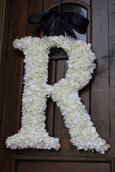 Hydrangea Covered Wedding Letter 24 Inch by SpottedLeopard on Etsy, $135.00