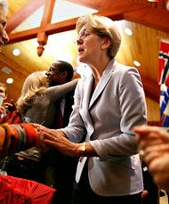 """Elizabeth Warren - <3 President, someday. The sooner the better. """"Heaven is a Place Called Elizabeth Warren"""" - NY Times Magazine article by Rebecca Traister"""