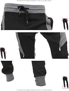 360d38f74df Hat and Beyond Casual Fleece Jogger Pants Active Elastic Urban Biker Slim  Fit (X-Large