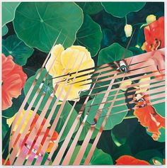 Nasturtium Salad by James Rosenquist, oil on canvas, x 1984 abstract realism Jasper Johns, Peter Blake, Robert Rauschenberg, Roy Lichtenstein, David Hockney, Pop Art, Andy Warhol, Richard Hamilton, James Rosenquist