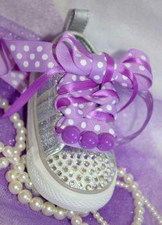 c9eae6963f40 Blinged Out Purple Converse Purple Converse