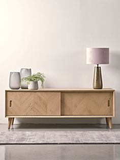 Chevron Oak Media Unit - Modern Home Furniture Modern Home Furniture, Scandinavian Furniture, Living Furniture, Furniture Design, Furniture Nyc, Cheap Furniture, Oak Sideboard, Sideboard Furniture, Furniture Storage