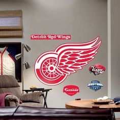 Fathead Detroit Red Wings Logo Wall Decal, Multicolor
