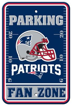 ccfc530944b NFL New England Patriots Parking Sign Wall Sign New England Patriots Flag,  Patriots Logo,