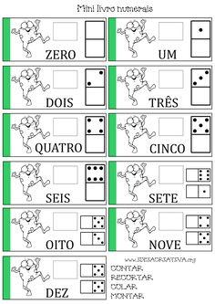 Matemática Infantil: Mini livro Numerais Sapinho