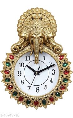 Checkout this latest Wall Clocks Product Name: *Aarav Arts Designer Analog Wall Clock* Material: Plastic Pack: Pack of 1 Product Length: 32.5 cm Product Breadth: 22.5 cm Product Height: 6 cm Country of Origin: India Easy Returns Available In Case Of Any Issue   Catalog Rating: ★3.9 (335)  Catalog Name: Wonderful Wall Clocks CatalogID_1977032 C127-SC1440 Code: 024-10749718-549