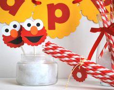 Birthday Elmo Party set Inspired ELMO party set  by Mariapalito,