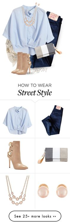 """""""Street style"""" by janemichaud-ipod on Polyvore featuring Sophie Darling, Levi's, Chicnova Fashion, GUESS, Charter Club and Kenneth Jay Lane"""