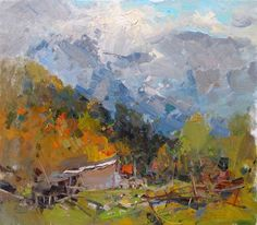 "Makarov Vitaly ""Sunny Morning In The Mahar"" - oil, canvas http://www.russianfineart.co/catalog/prod.php?productid=19055"
