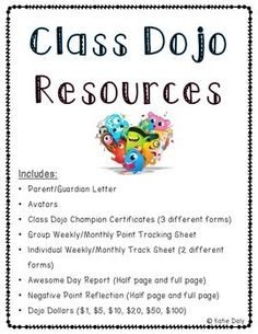 class dojo resource pack awesome resource for teachers that use class dojo in their