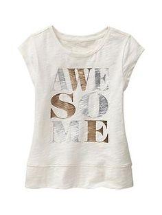 Metallic banded graphic tee Sweat Shirt, T Shirt Vintage, Statement Tees, Girls Tees, Kids Prints, Tween Fashion, Cute Shirts, Kids Wear, Costume